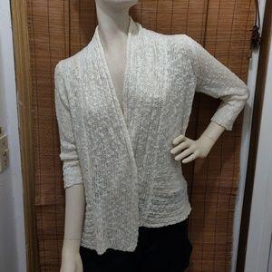 Crazy soft knit cartigan off white size Medium